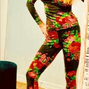 Rosebud vintage Betsey 1987 leggings and top